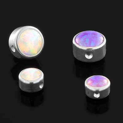 Titanium Bezel Set Opal Captive Bead