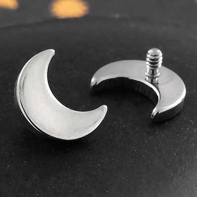 Titanium Internally Threaded Moon End