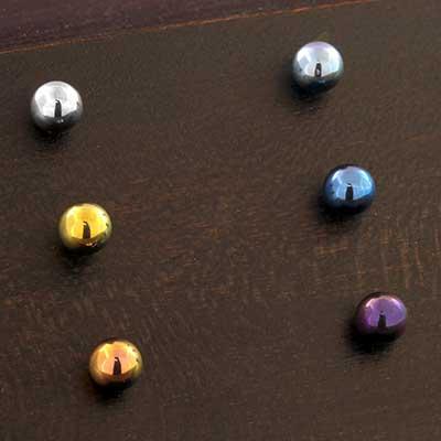 Titanium Threadless Ball End