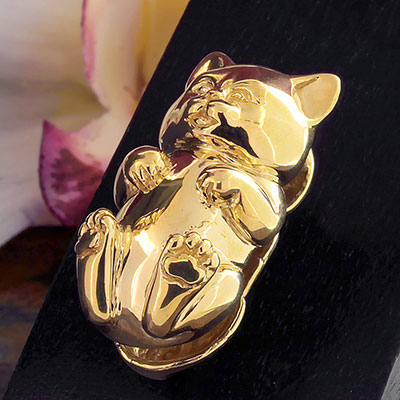 Brass Hanging Kitty Weights