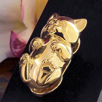 Brass Hanging Kitty Weights