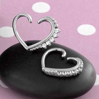 CZ Sparkle Heart Seamless Ring