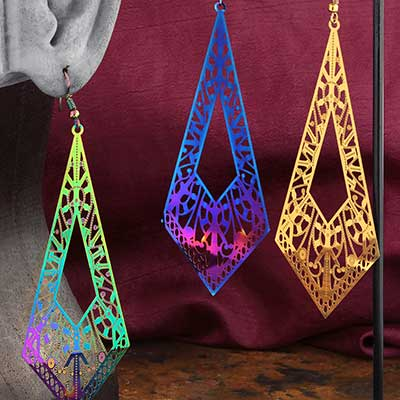 Crystal Beam Dangle Earrings