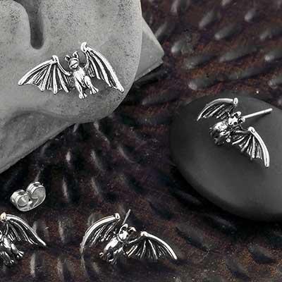 Bat Stud Earrings