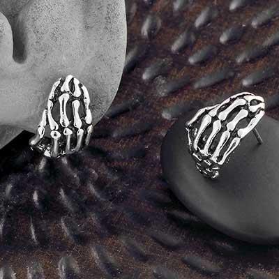 Skeleton Hand Stud Earrings