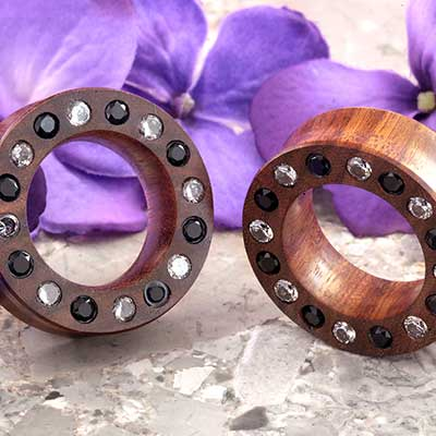 Chechen Eyelets with CZ Gems