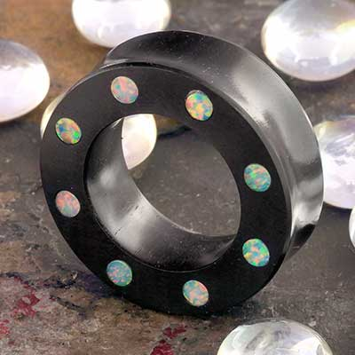 Ebony Wood Eyelets with Opal Inlays