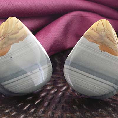 Wildhorse Picture Jasper Teardrop Plugs