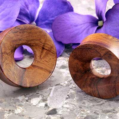Amboyna Burl Wood Eyelets