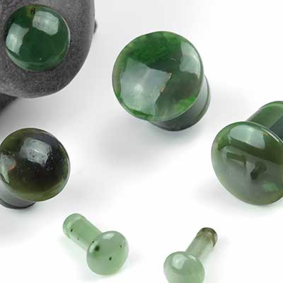 Single Flare Nephrite Jade Plugs