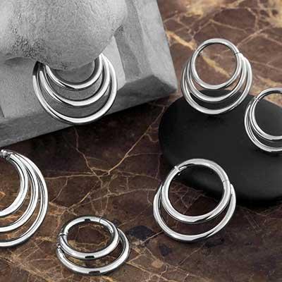 Titanium Crescent Clickers