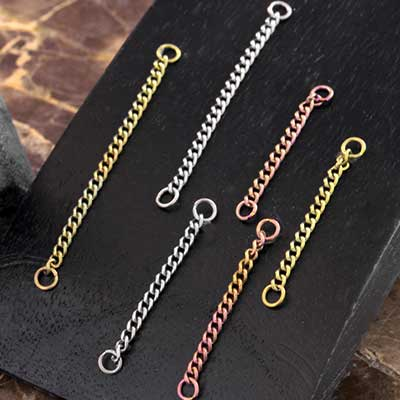 Titanium Nostril Chains