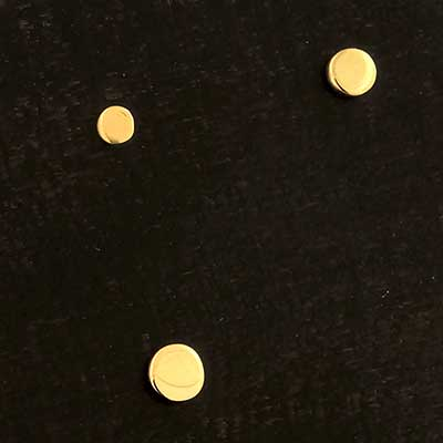 14k Gold Disc Threadless End