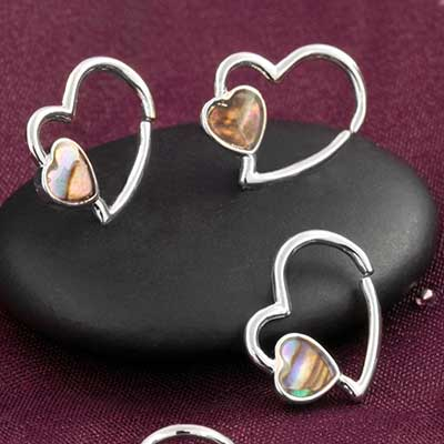 Abalone Heart Seamless Ring