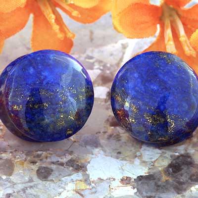 Double Flare Lapis Lazuli Plugs