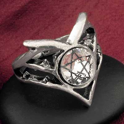 Pentagram Gem Ring