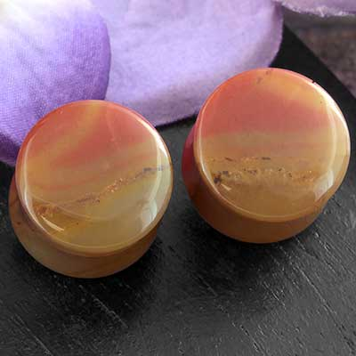 Double Flare Common Opal Plugs