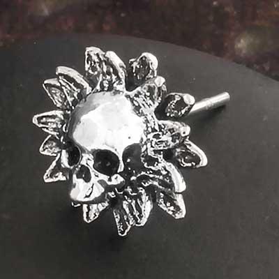 Sin Flower Stud Earrings