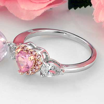 CZ Sweetheart Ring
