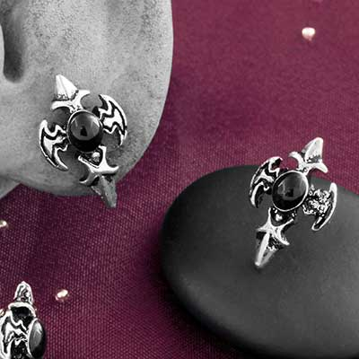 Gothic Cross Stud Earrings