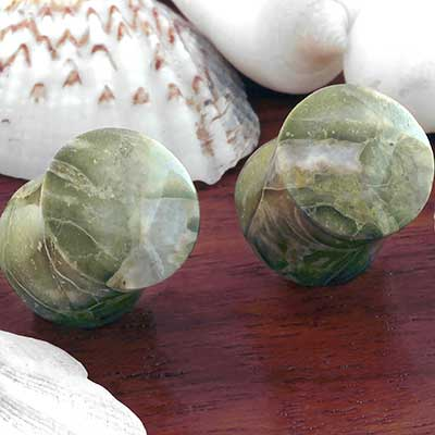 Green Brecciated Jasper Plugs