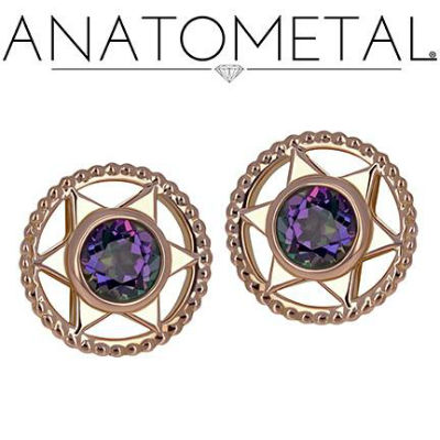 PRE-ORDER 18k Gold Vice End With Genuine Stones