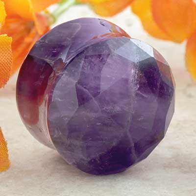 Faceted Amethyst Plugs