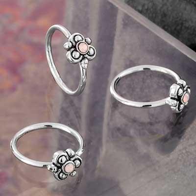 Pink Opalite Bloom Seamless Ring