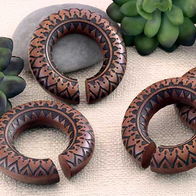 Mandala Saba Wood Hoops