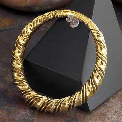 Brass Twisted Clicker Hoops