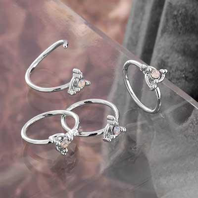 Trinity Swirl Seamless Ring