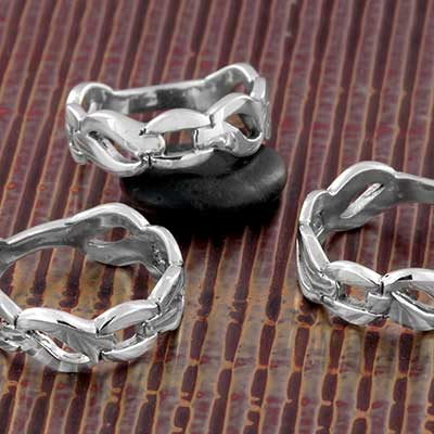 Silver Celtic Link Ring