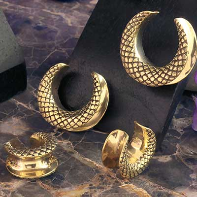Brass Snake Skin Saddle Design