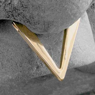 14k Gold Geometric Clicker (Triangle)