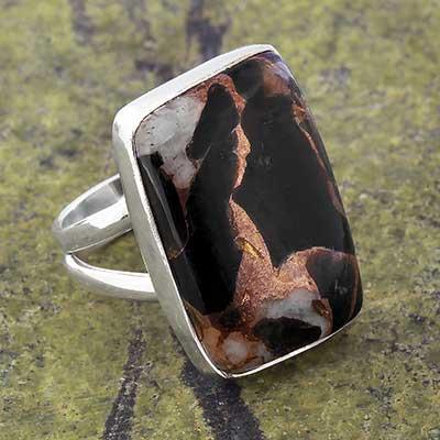 Dalmatian Bronze Boulder Ring