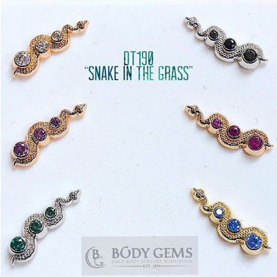 PRE-ORDER 14k Gold Snake In The Grass End