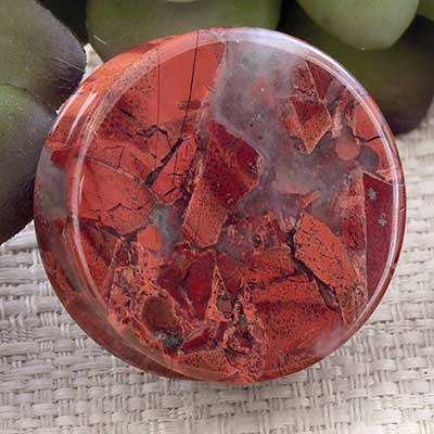 Red Brecciated Jasper Plugs