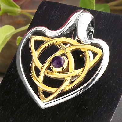 Celtic Vanga Weights with Amethyst