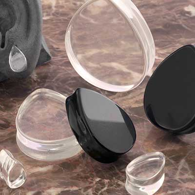 Glass Teardrop Plugs