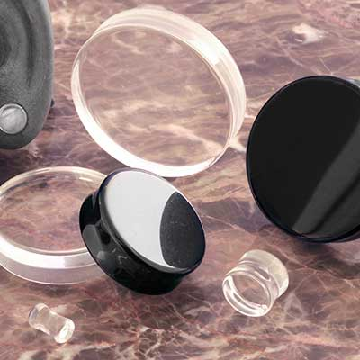 Double Flare Glass Plugs