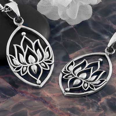 Framed Lotus Necklace