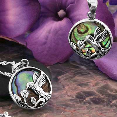 Abalone Hummingbird Necklace