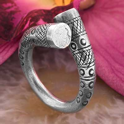 Silver Twisted Monument Ring