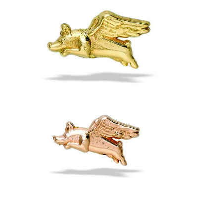 PRE-ORDER 14k Gold When Pigs Fly End