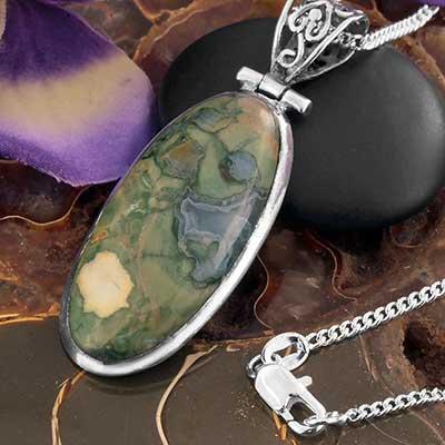 African Opal Jasper Necklace