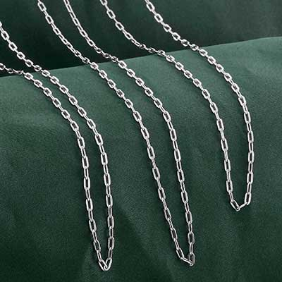 Elongated Cable Necklace Chain