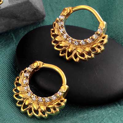 Crystal Lotus Septum Clicker