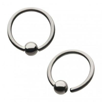 PRE-ORDER Niobium Fixed bead Rings