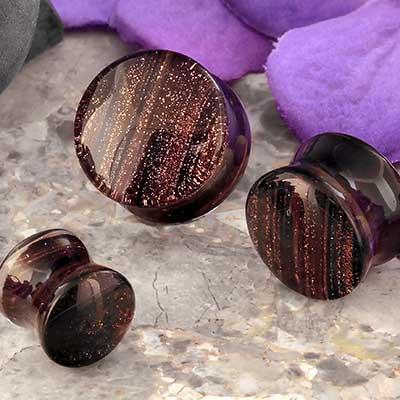 Sparkling Stripe Plugs