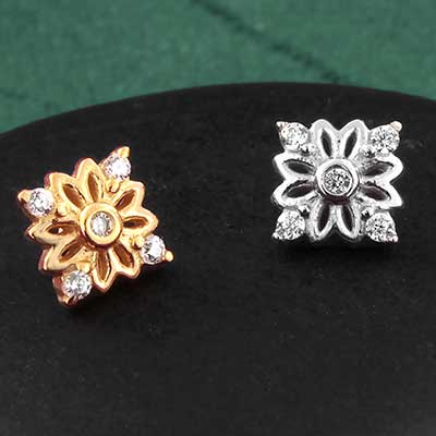 14k Gold Wildflower Threaded End